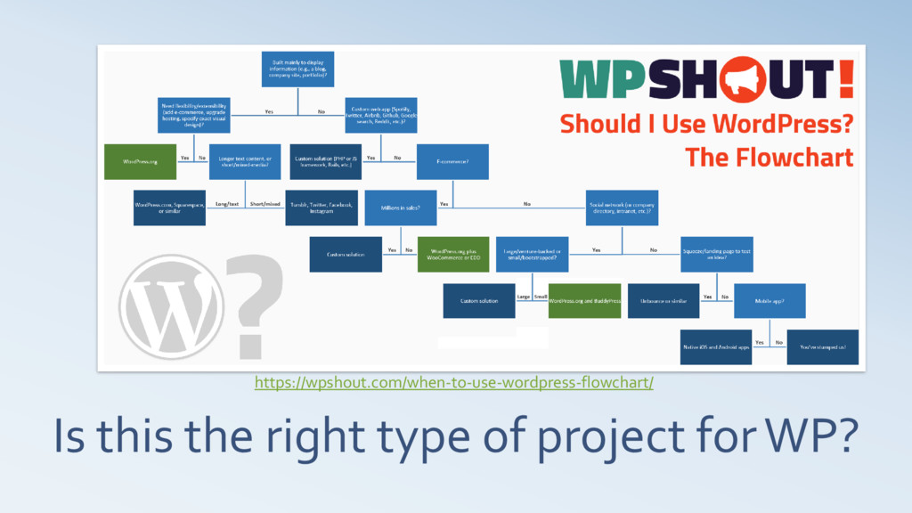Is this the right type of project for WP? https...