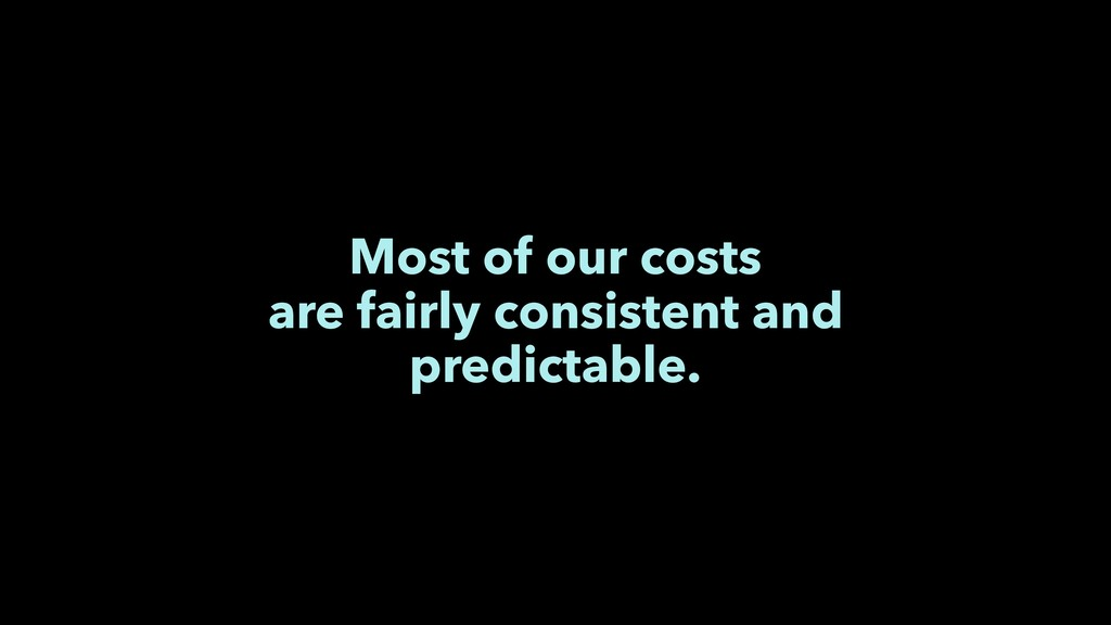 Most of our costs are fairly consistent and pre...