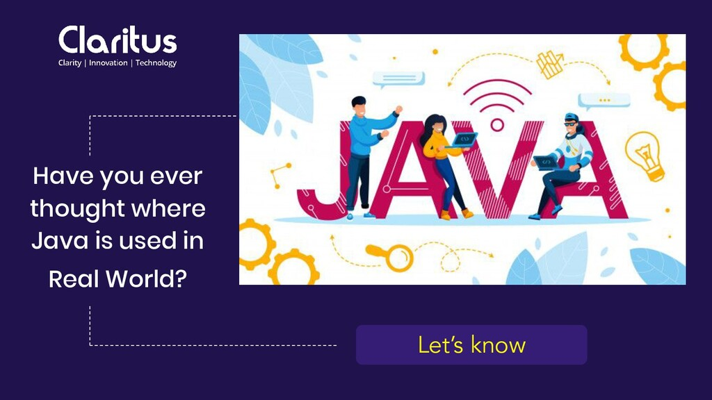 Let's know Have you ever thought where Java is ...