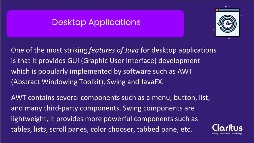 Desktop Applications One of the most striking f...