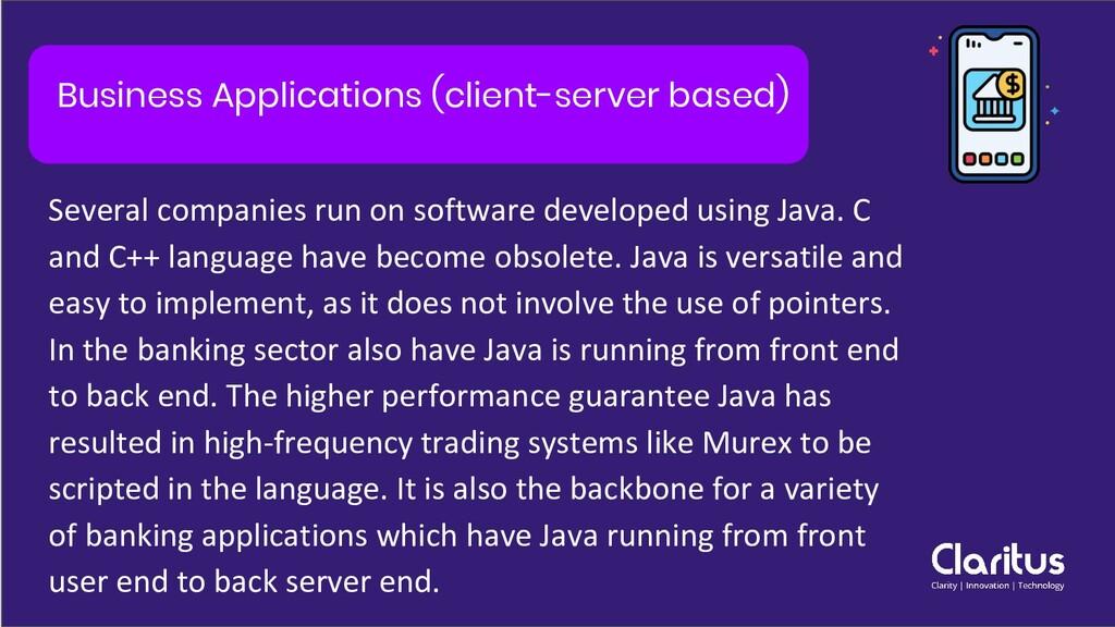 Business Applications (client-server based) Sev...