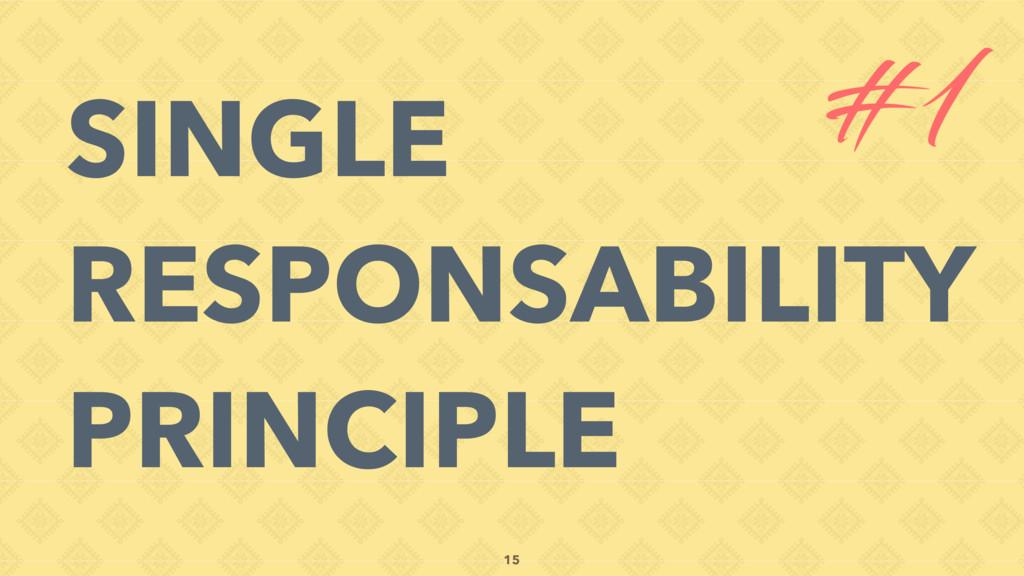 SINGLE RESPONSABILITY PRINCIPLE #1 15