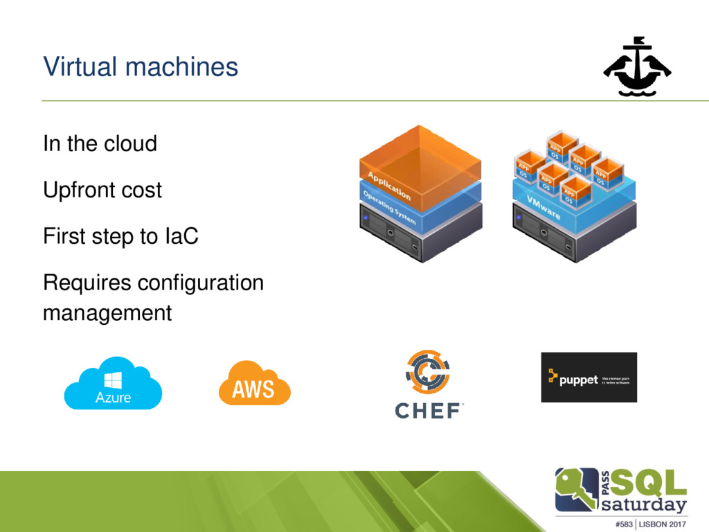 Virtual machines In the cloud Upfront cost Firs...