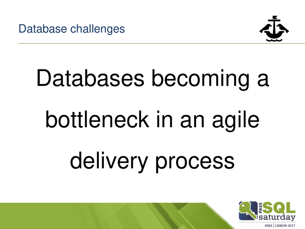 Database challenges Databases becoming a bottle...