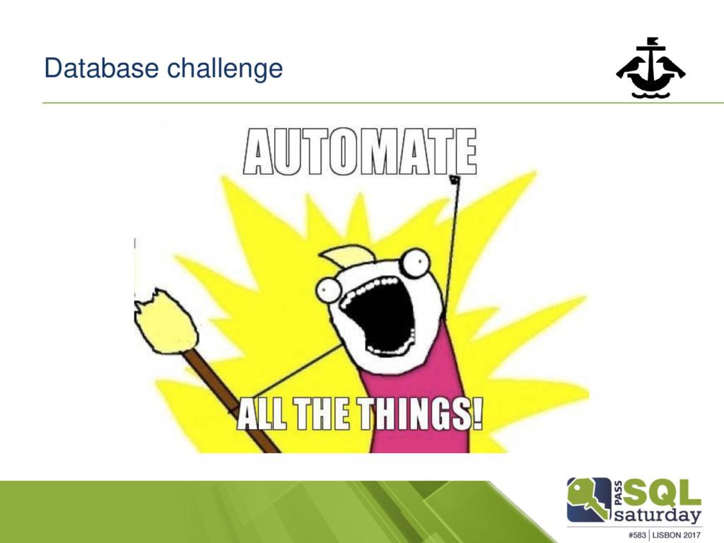 Database challenge