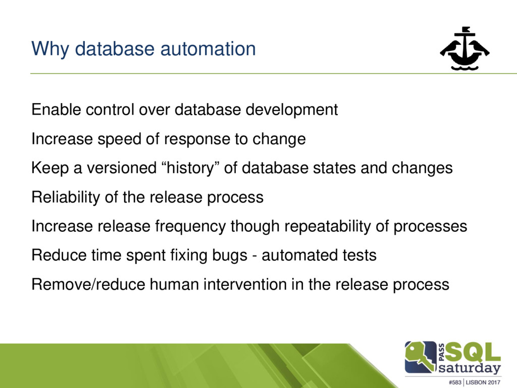 Why database automation Enable control over dat...