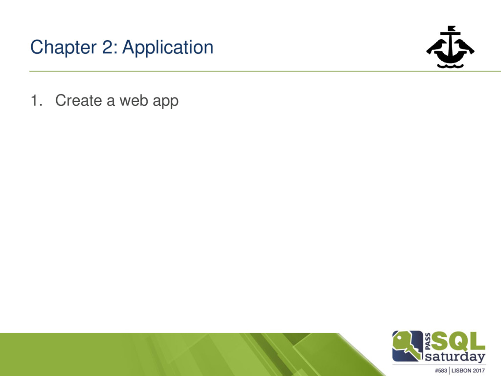Chapter 2: Application 1. Create a web app