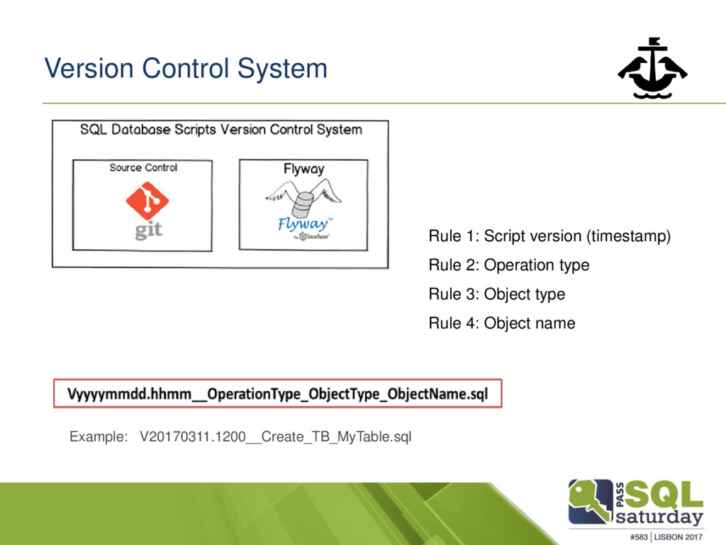 Version Control System Rule 1: Script version (...