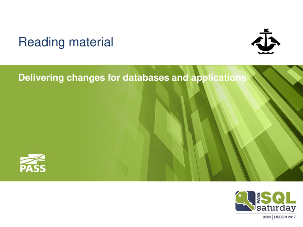 Reading material Delivering changes for databas...