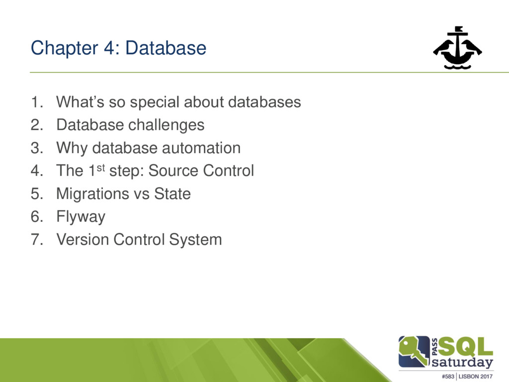 Chapter 4: Database 1. What's so special about ...