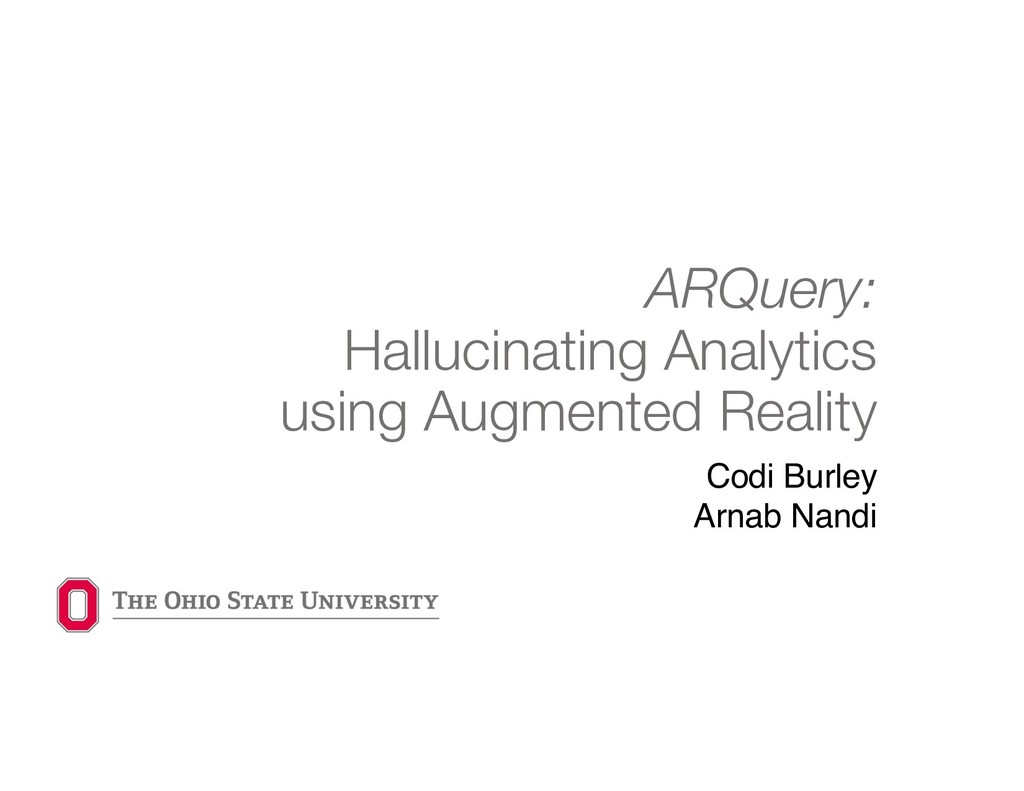 ARQuery: Hallucinating Analytics using Augmente...