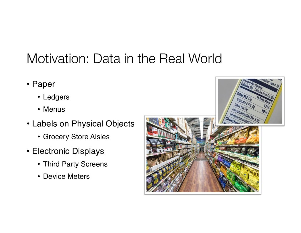 Motivation: Data in the Real World • Paper • Le...