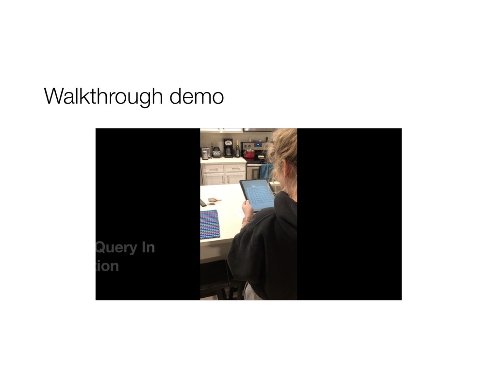 Walkthrough demo