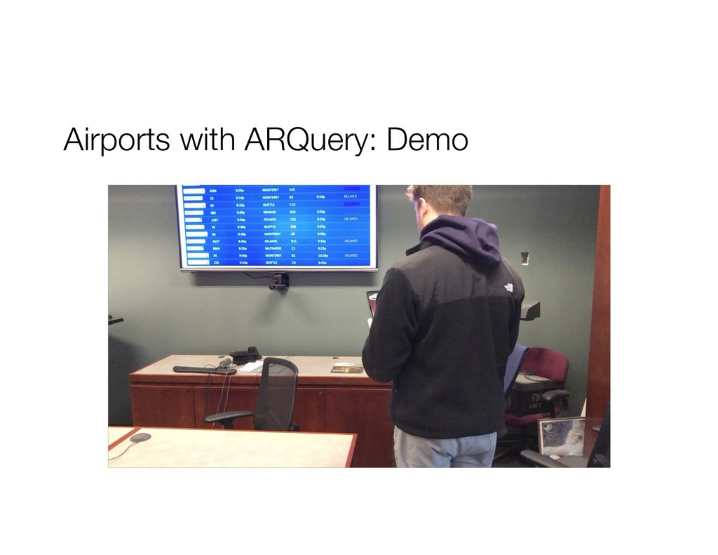 Airports with ARQuery: Demo