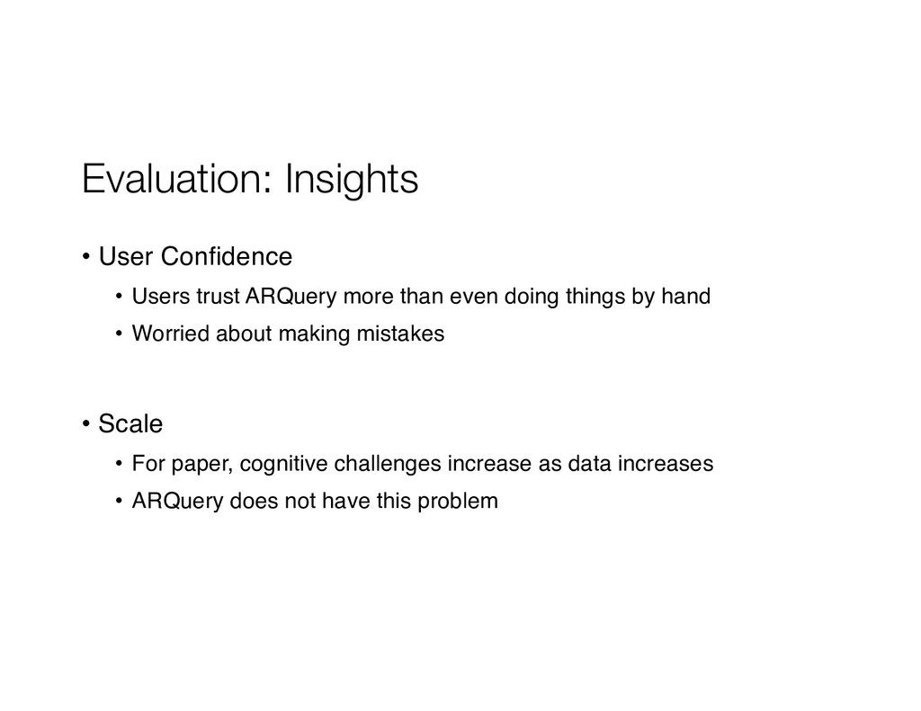 Evaluation: Insights • User Confidence • Users ...