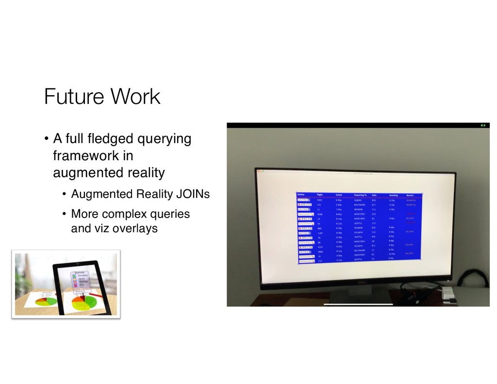 Future Work • A full fledged querying framework...