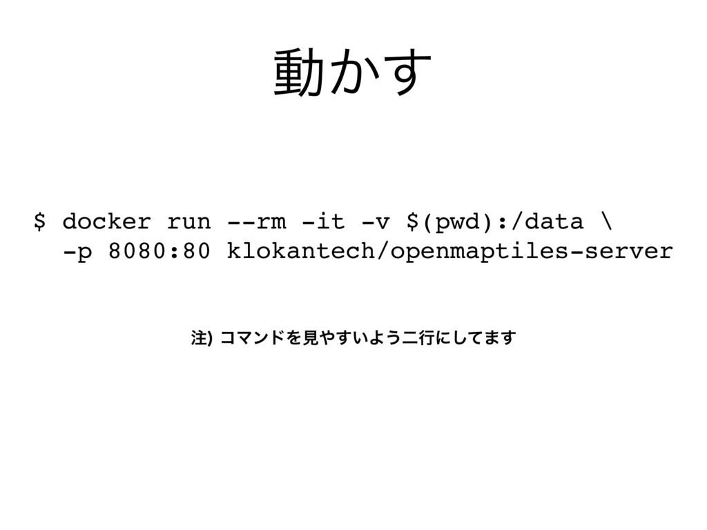 ಈ͔͢ $ docker run --rm -it -v $(pwd):/data \ -p ...