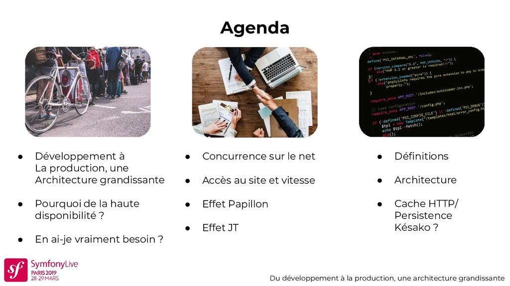 Agenda Du développement à la production, une ar...