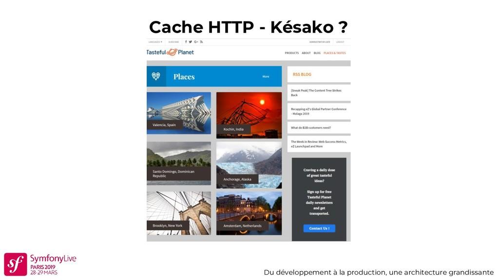 Cache HTTP - Késako ? Du développement à la pro...