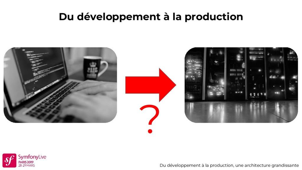 Du développement à la production Du développeme...