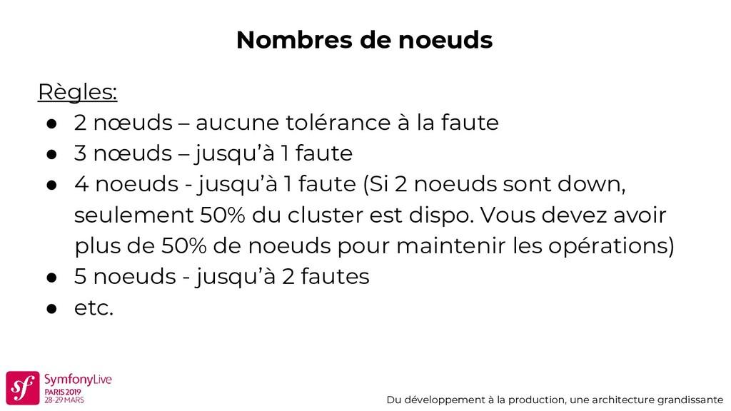 Nombres de noeuds Du développement à la product...
