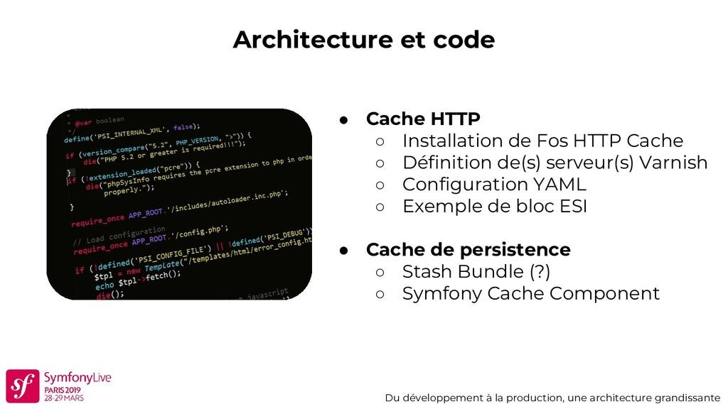 Architecture et code Du développement à la prod...