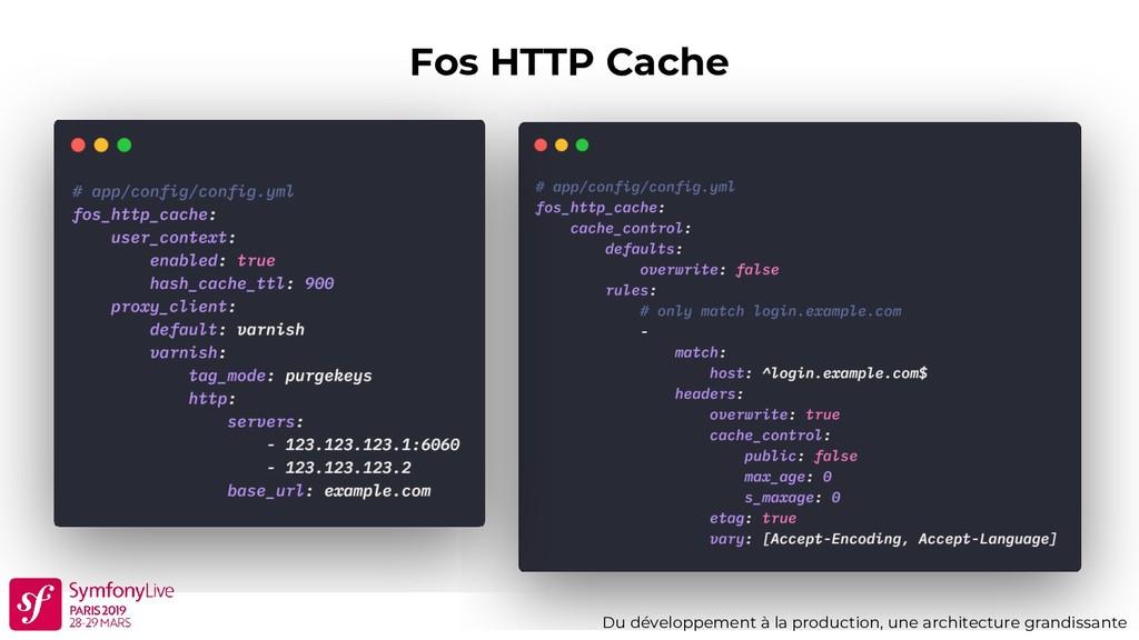 Fos HTTP Cache Du développement à la production...