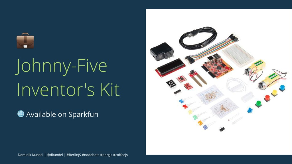 ! Johnny-Five Inventor's Kit ! Available on Spa...