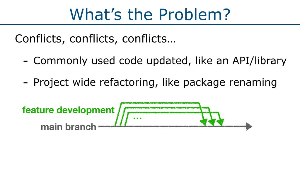 What's the Problem? Conflicts, conflicts, confl...