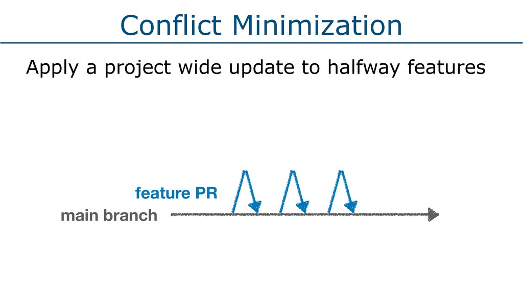 Conflict Minimization Apply a project wide upda...