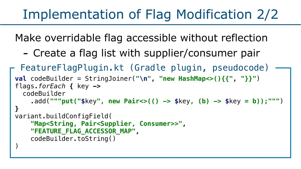 Implementation of Flag Modification 2/2 Make ov...