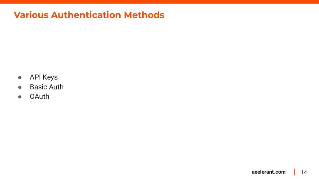 14 axelerant.com Various Authentication Methods...