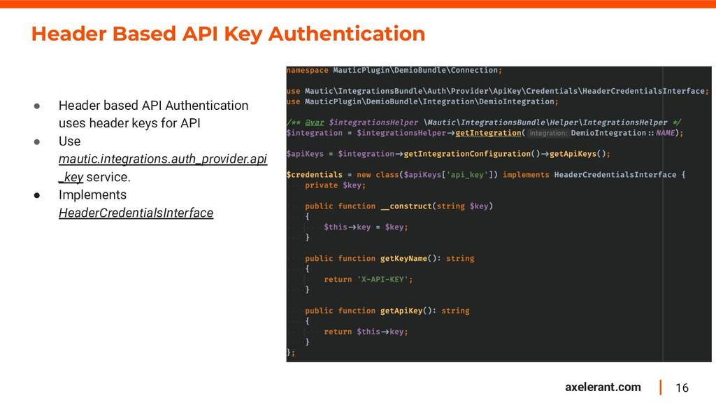 16 axelerant.com Header Based API Key Authentic...