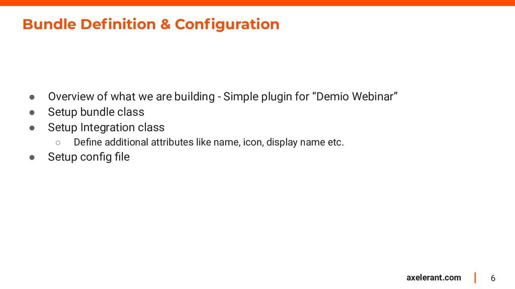 6 axelerant.com Bundle Definition & Configuration...