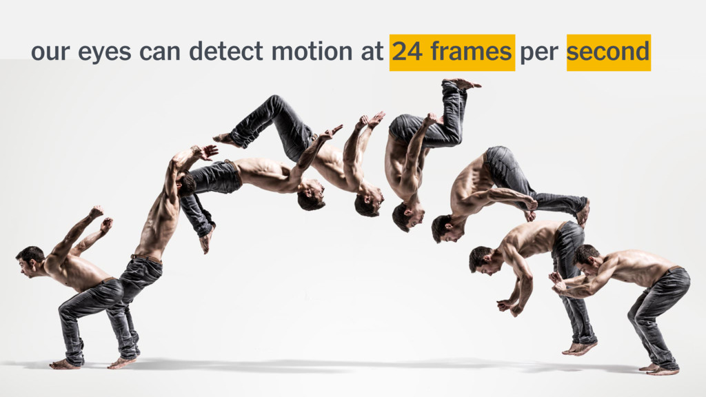 our eyes can detect motion at 24 frames per sec...