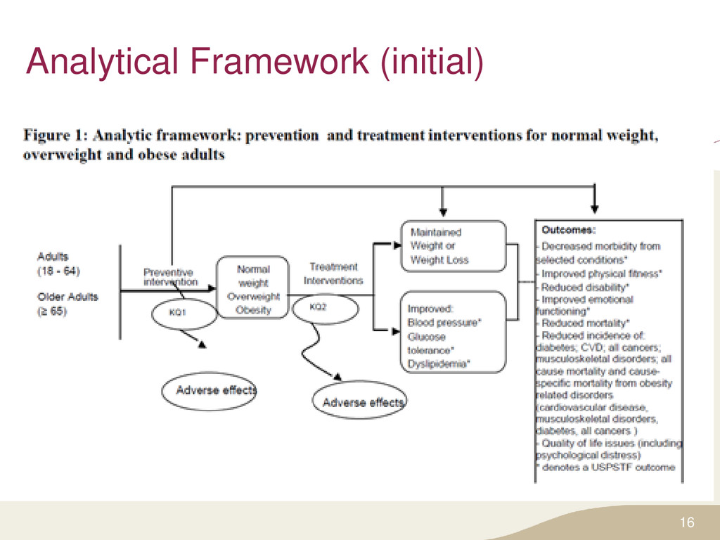 Analytical Framework (initial) 16
