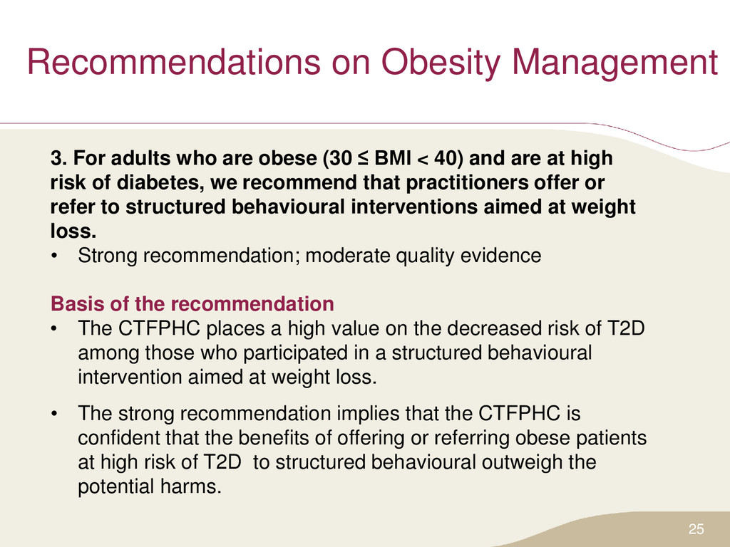 Recommendations on Obesity Management 3. For ad...