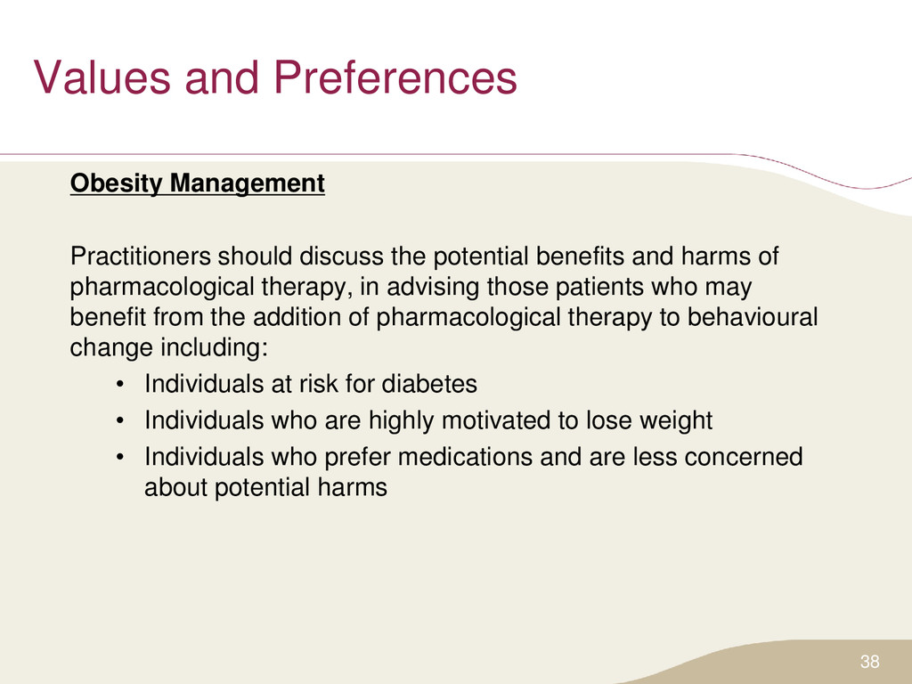 Values and Preferences Obesity Management Pract...