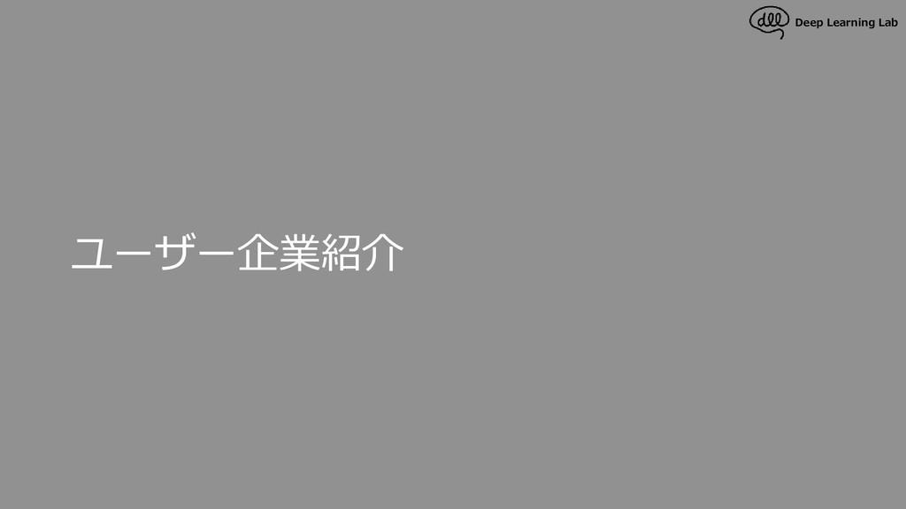 Deep Learning Lab ユーザー企業紹介