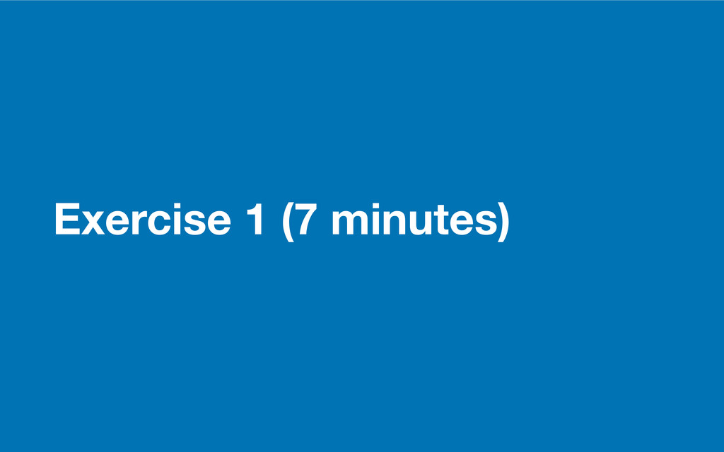 GDS Exercise 1 (7 minutes)