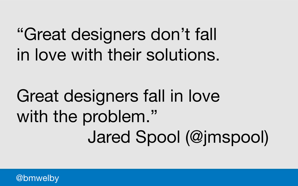 """GDS @bmwelby """"Great designers don't fall  in lo..."""