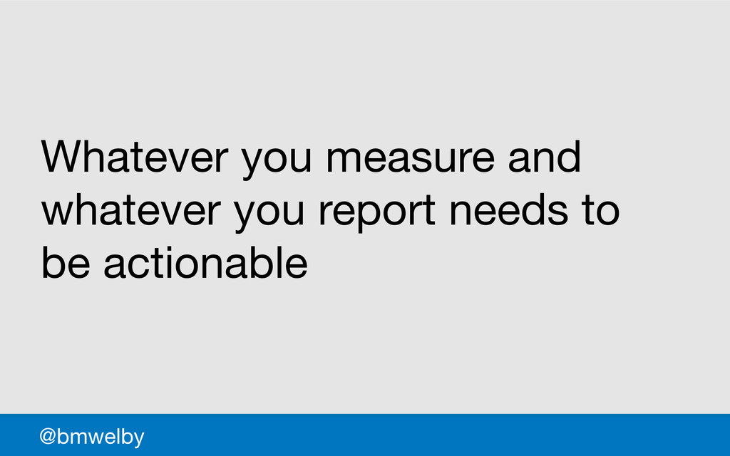 GDS @bmwelby Whatever you measure and whatever ...