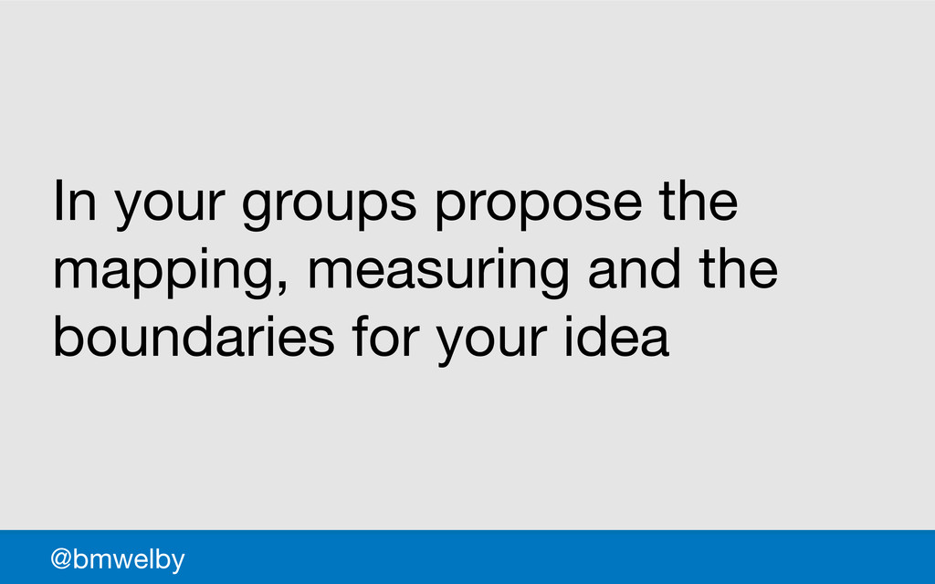 GDS In your groups propose the mapping, measuri...