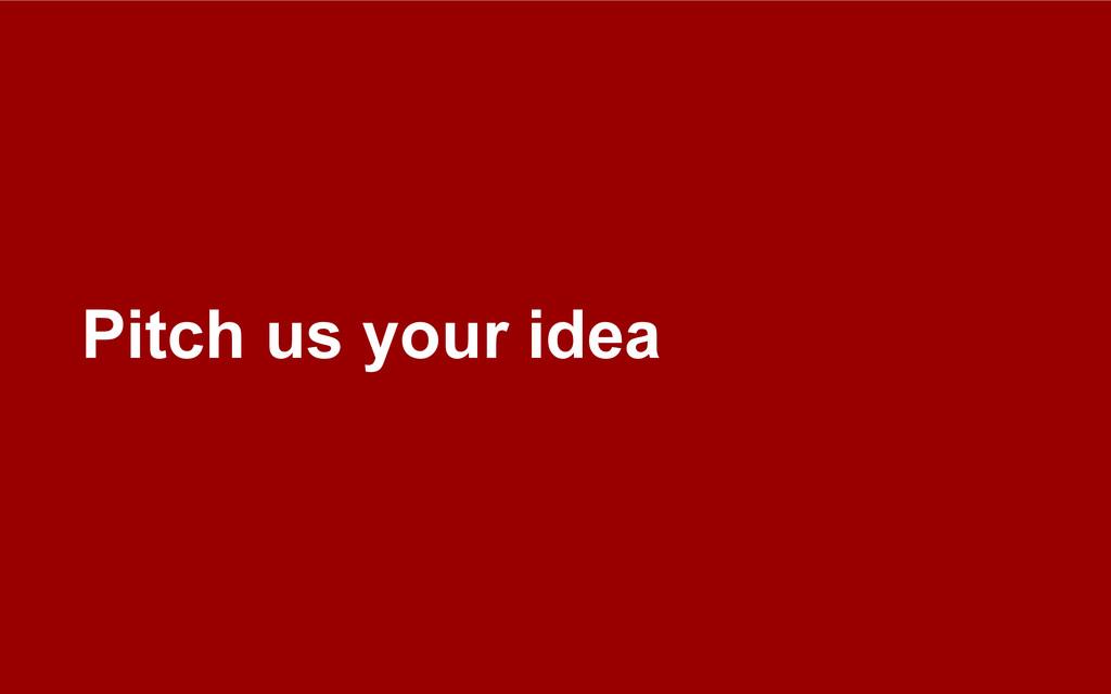 Pitch us your idea