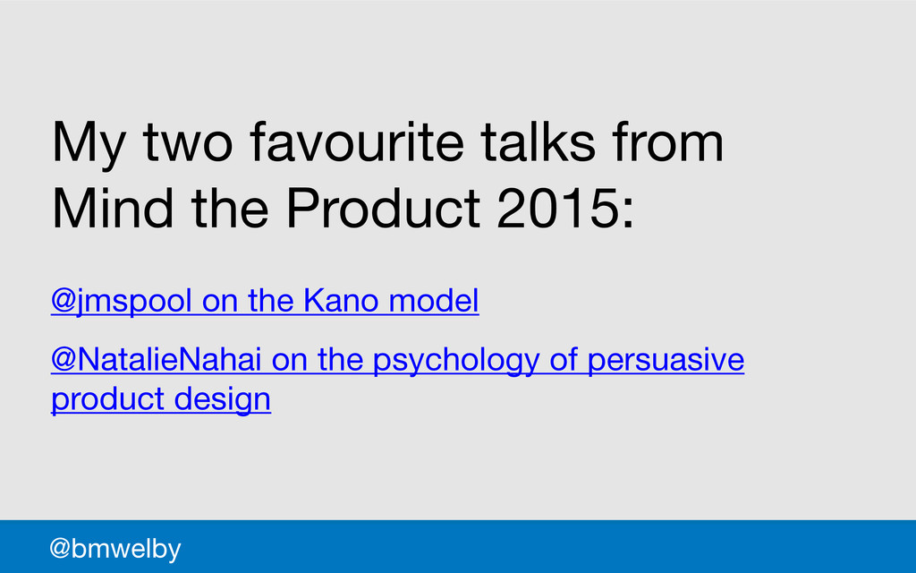 GDS @bmwelby My two favourite talks from Mind t...