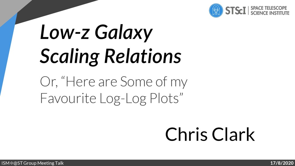 "Low-z Galaxy Scaling Relations Or, ""Here are So..."