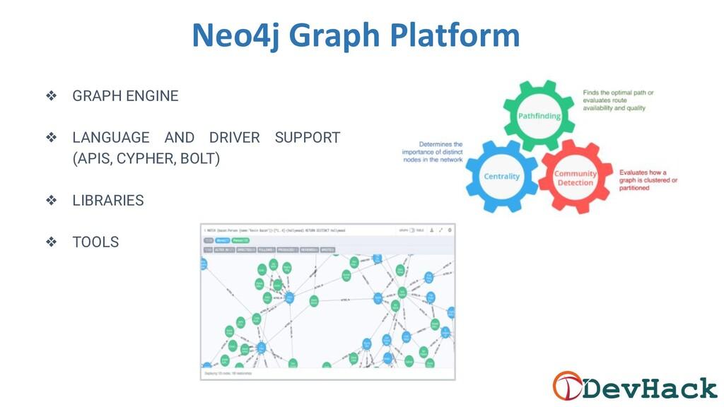 Neo4j Graph Platform ❖ GRAPH ENGINE ❖ LANGUAGE ...