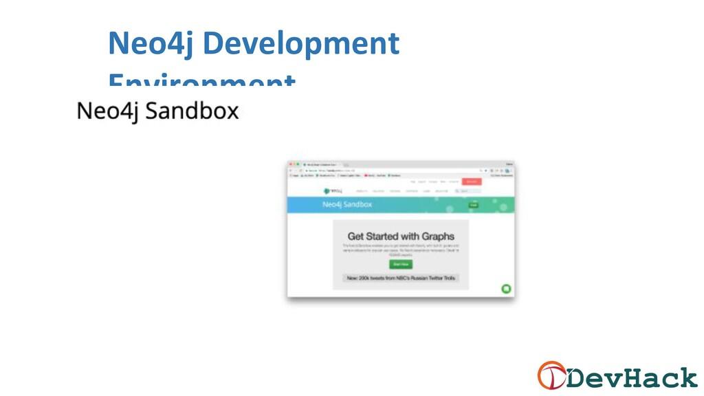 Neo4j Development Environment