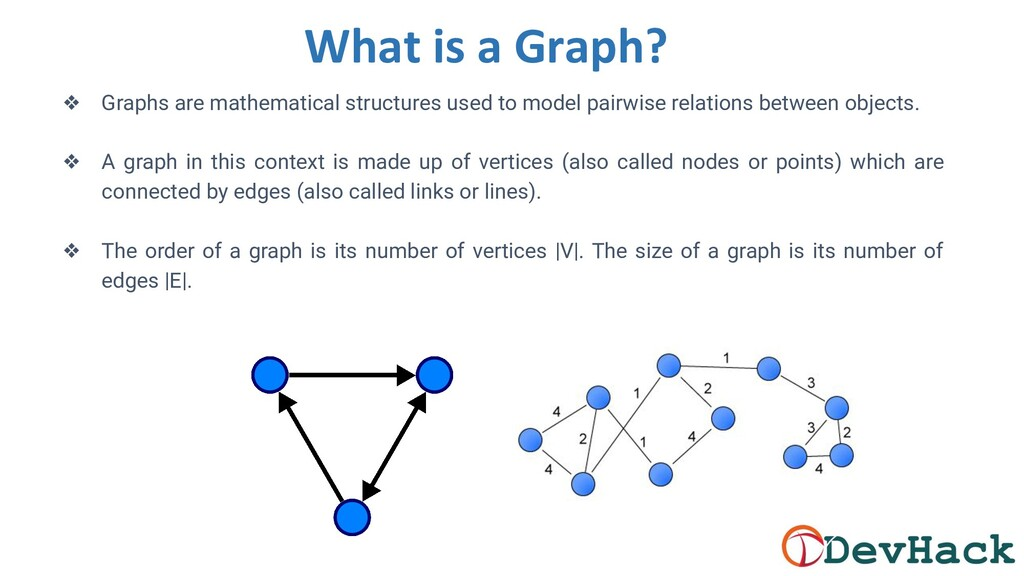 What is a Graph? ❖ Graphs are mathematical stru...