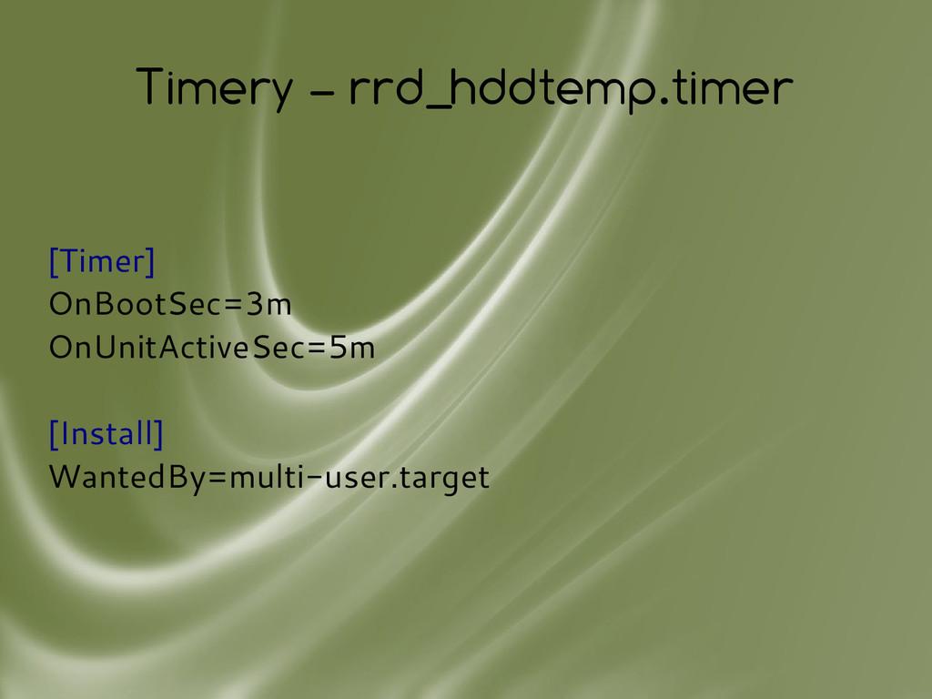 Timery – rrd_hddtemp.timer [Timer] OnBootSec=3m...